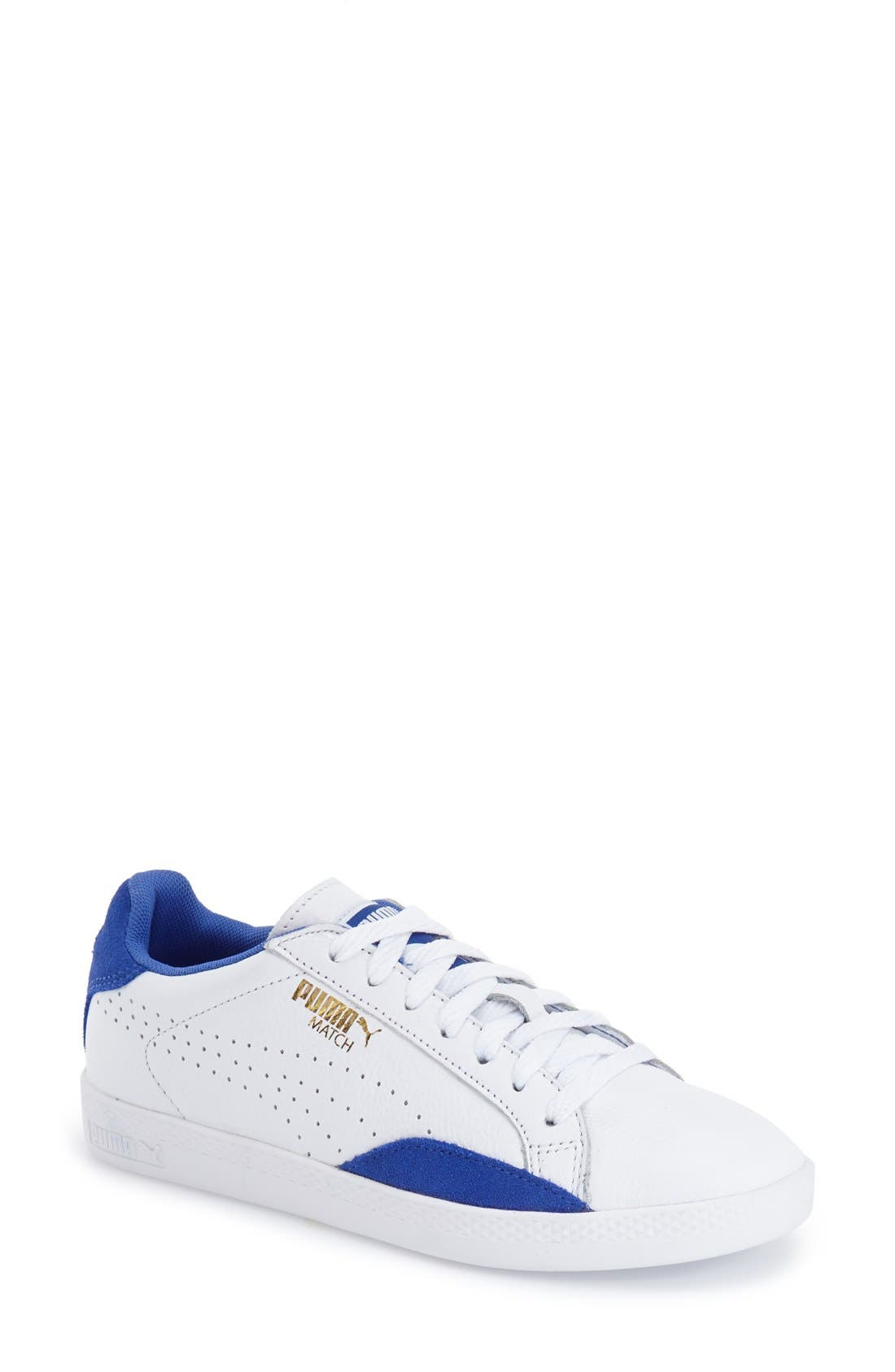 Alternate Image 1 Selected - PUMA 'Match Lo - Basic Sport' Leather Sneaker (Women)