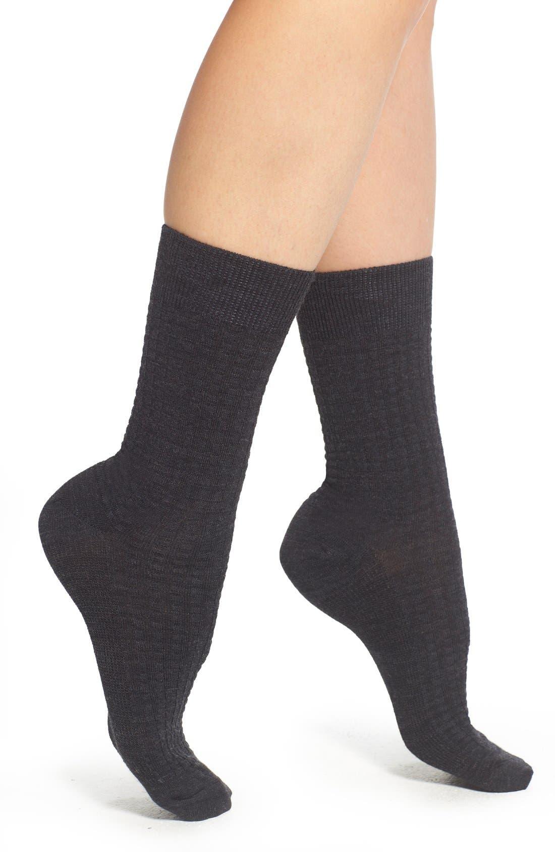 Main Image - Smartwool Textured Crew Socks