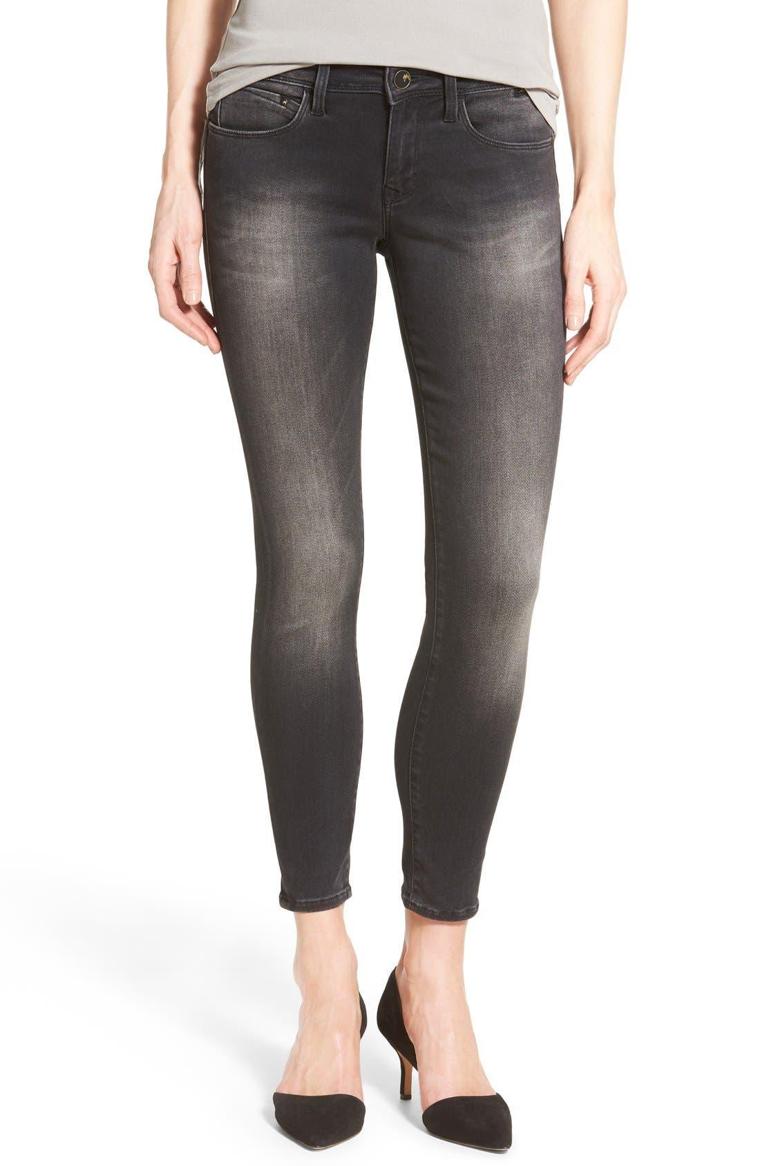 MAVI JEANS Gold 'Alexa' Stretch Ankle Skinny Jeans