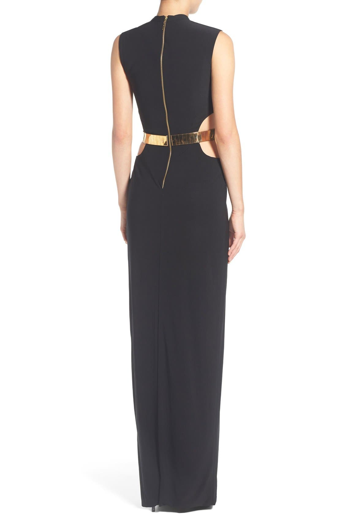 Alternate Image 2  - Mac Duggal Belted Side Cutout Gown