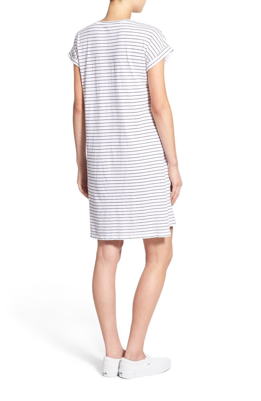Alternate Image 3  - Sundry Stripe Short Sleeve Shift Dress