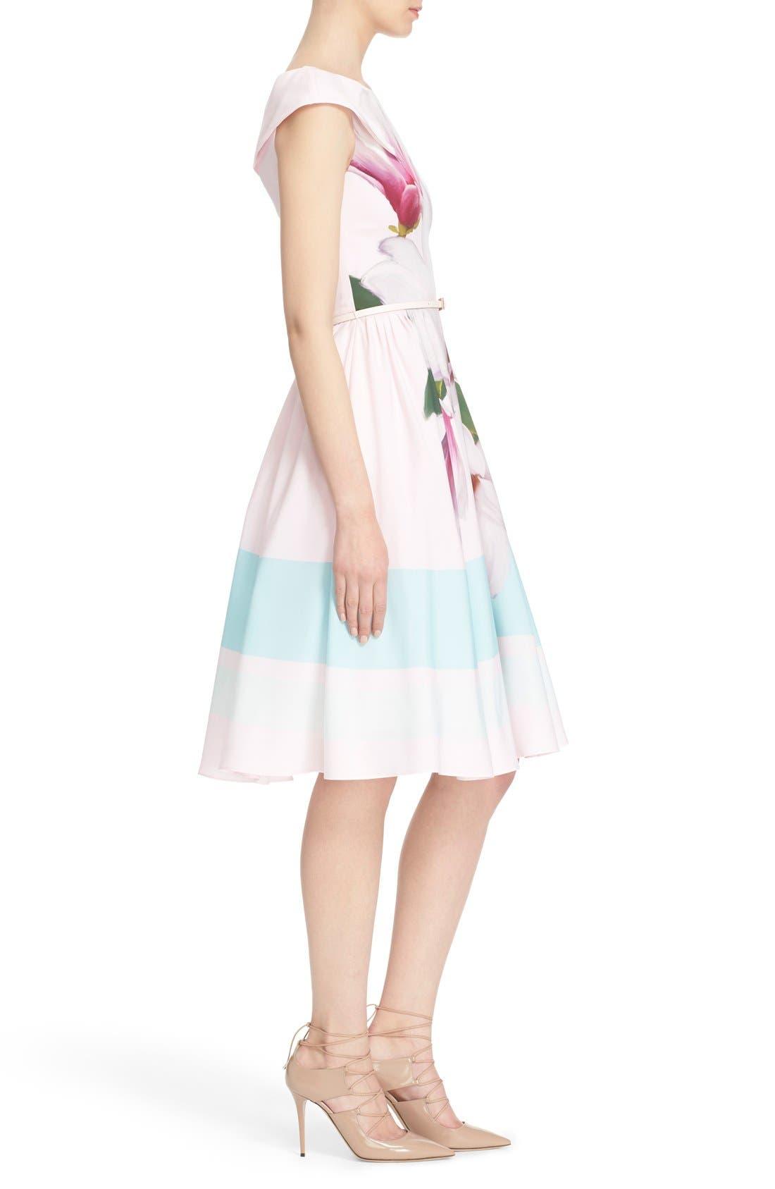 Alternate Image 3  - Ted Baker London 'Bromlie' Fit & Flare Dress