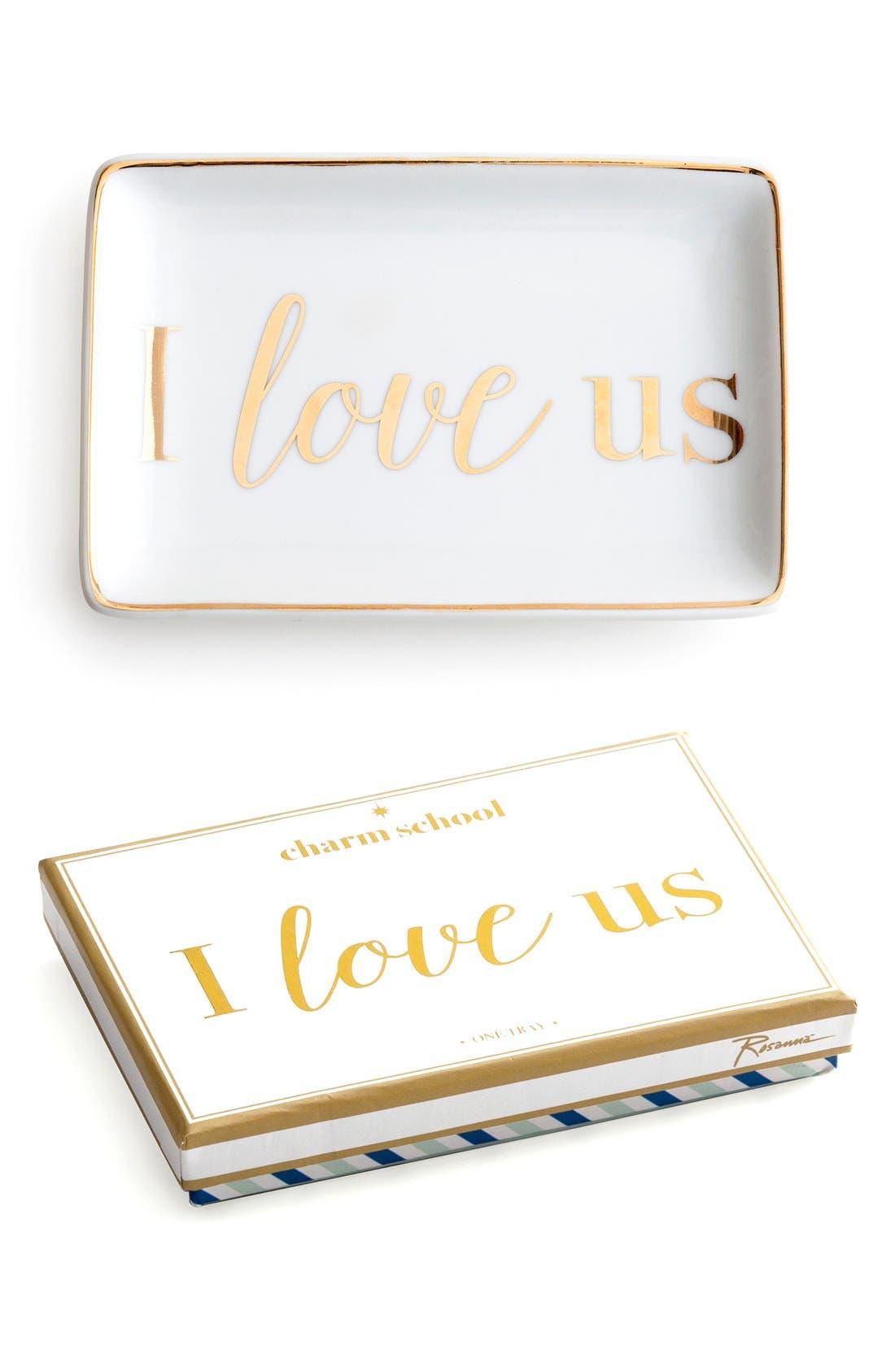 Alternate Image 1 Selected - Rosanna 'I Love Us' Porcelain Tray