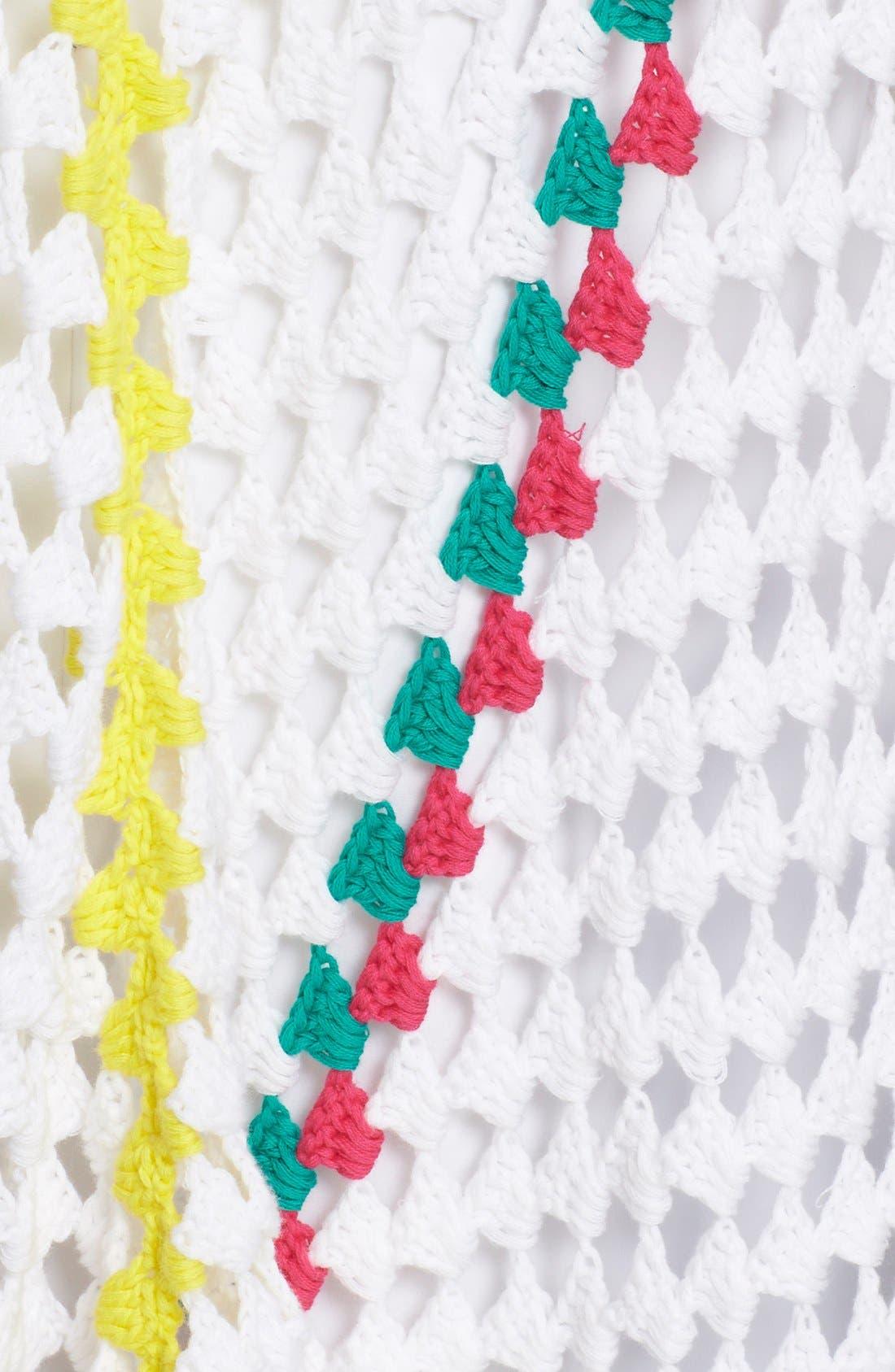 Alternate Image 3  - Mira Mikati Stripe Crochet Poncho
