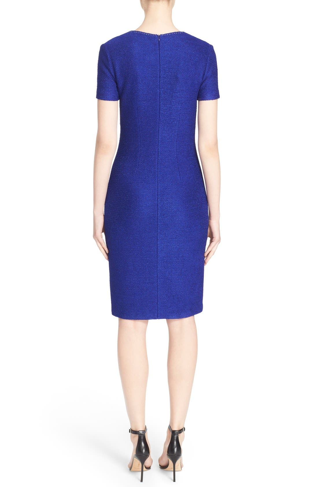 Alternate Image 2  - St. John Collection 'Newport' Knit Sheath Dress