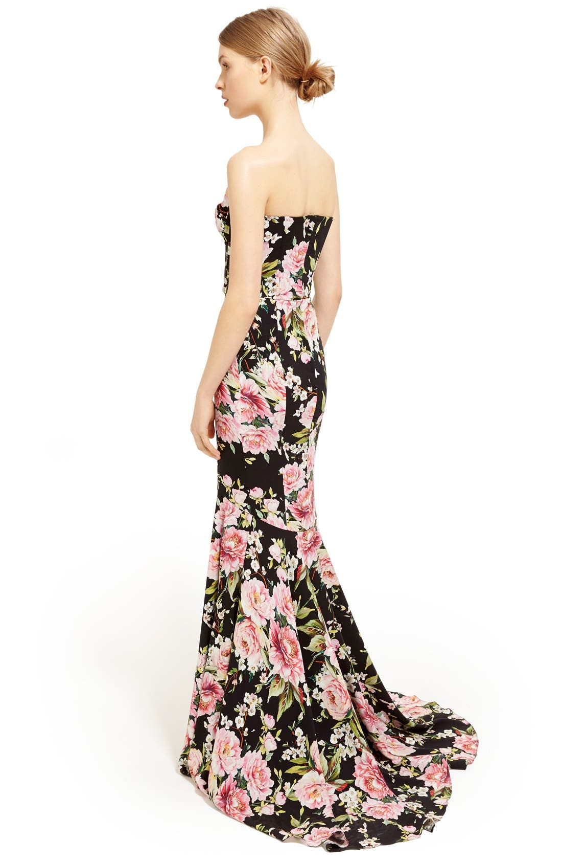 Alternate Image 6  - Dolce&Gabbana Floral Print Strapless Charmeuse Gown