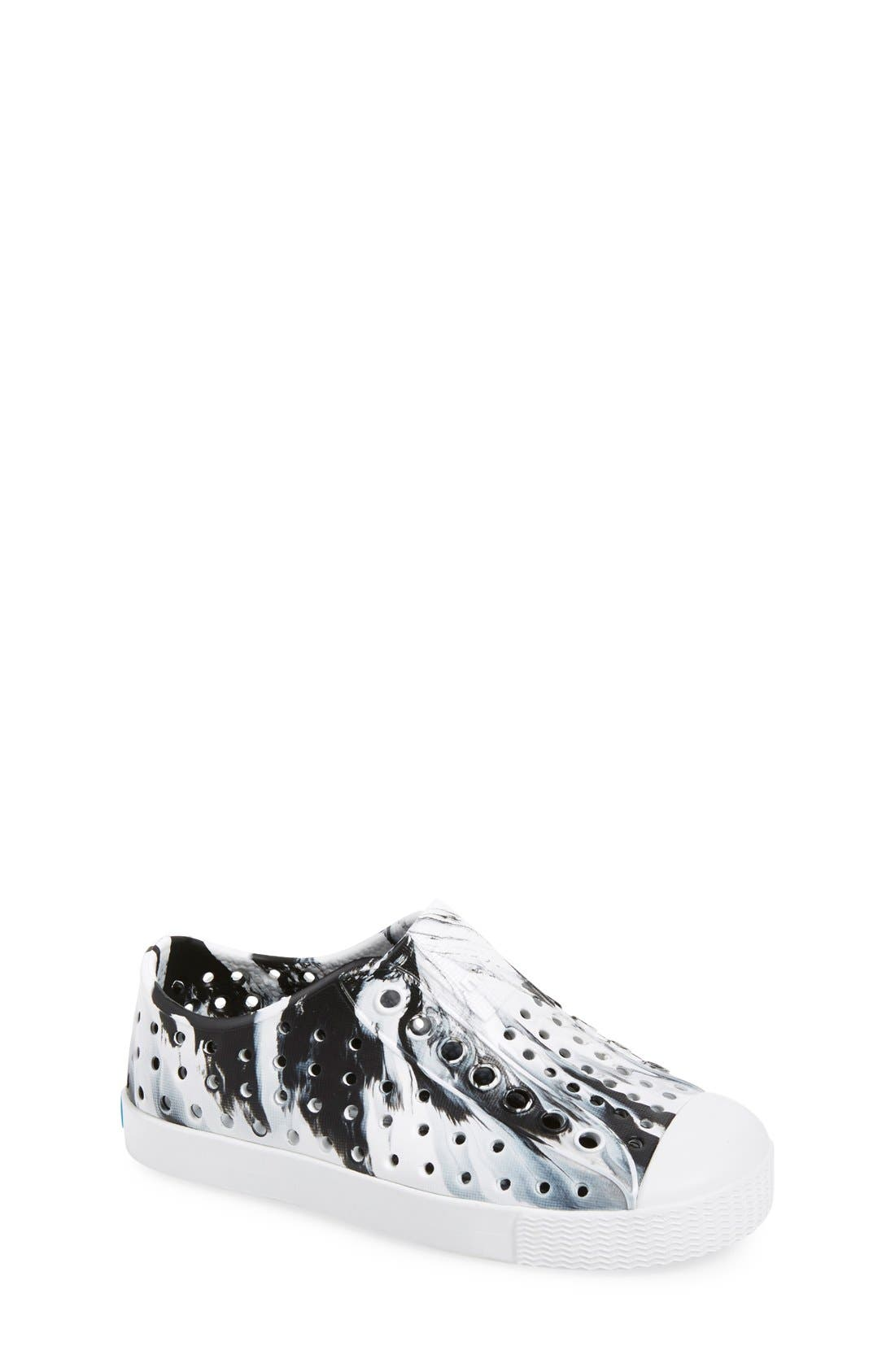 Native Shoes Jefferson - Marbled Perforated Slip-On (Walker, Toddler & Little Kid)