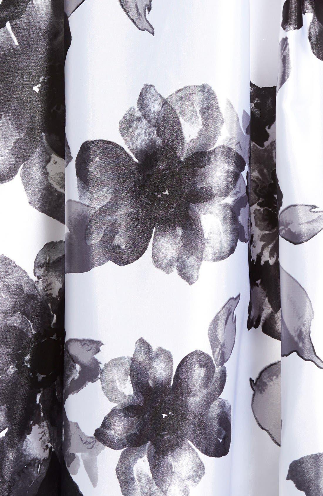 Alternate Image 5  - Blondie Nites Floral Print Two-Piece Gown