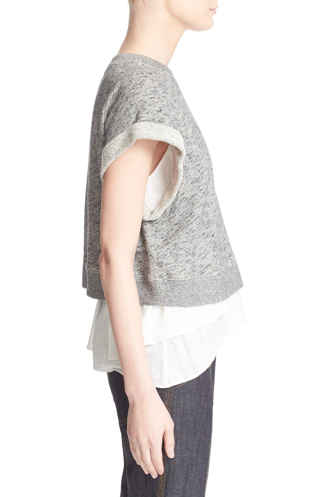 Alternate Image 3  - Derek Lam 10 Crosby 2-in-1 Ruffle Hem Sweatshirt