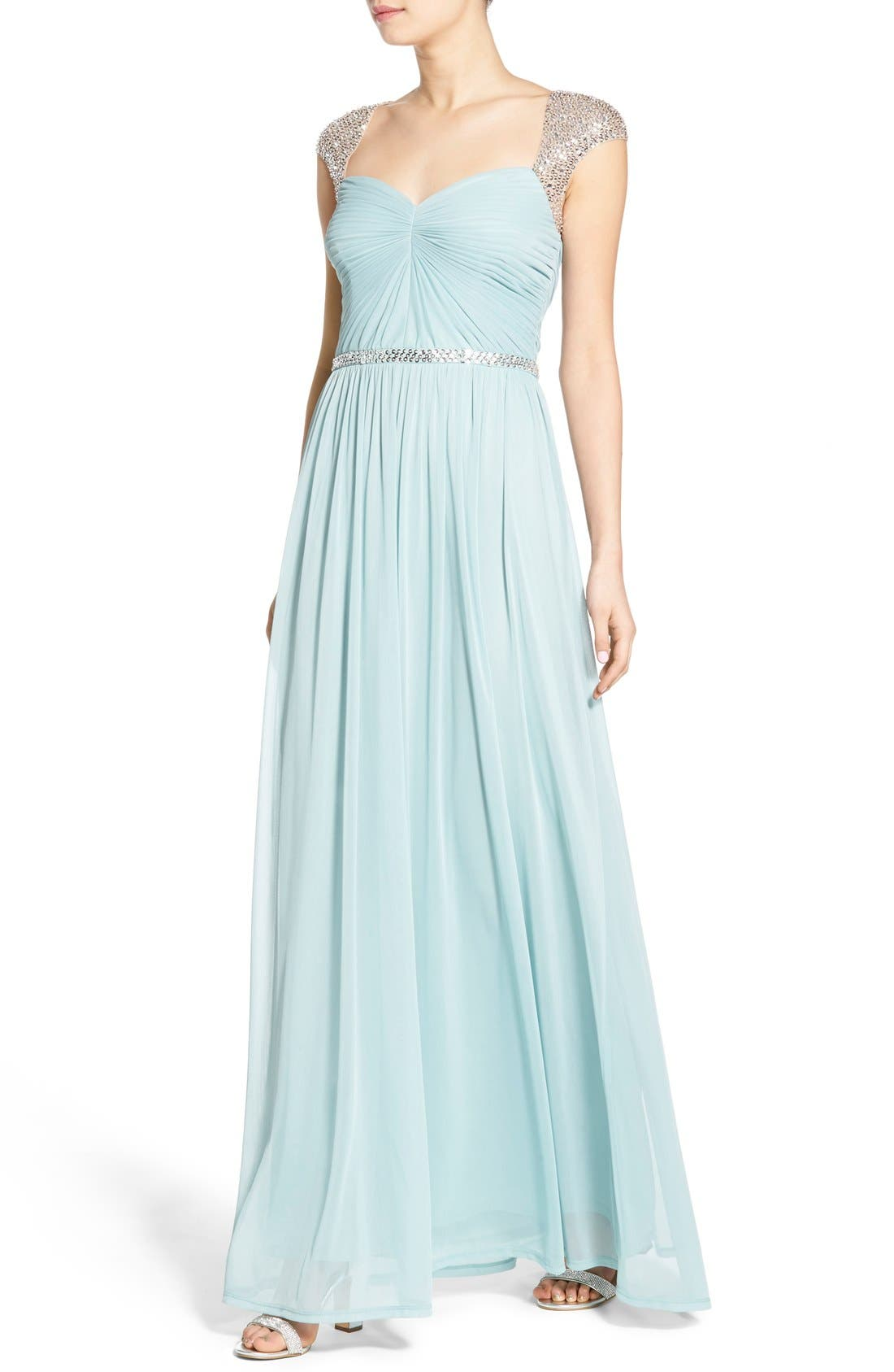 Alternate Image 4  - Adrianna Papell Embellished Ruched Jersey Gown