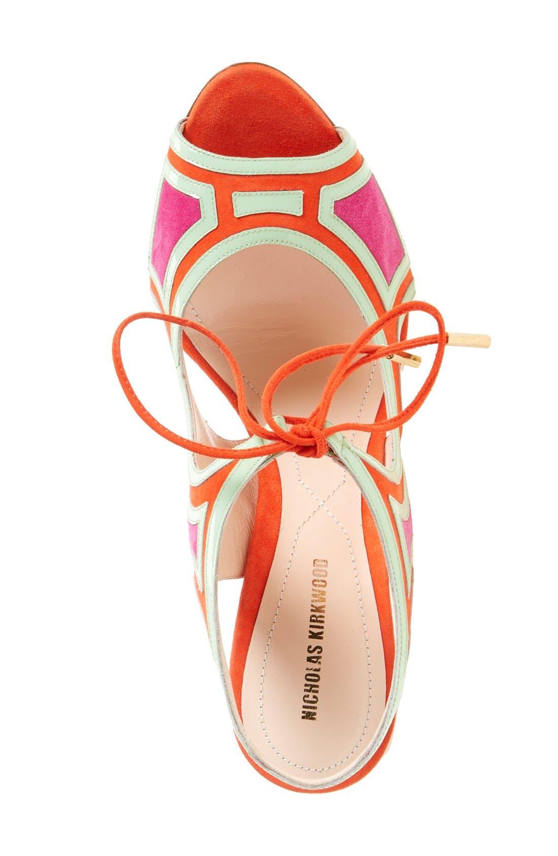 Alternate Image 3  - Nicholas Kirkwood 'Outliner' Lace-Up Sandal (Women)