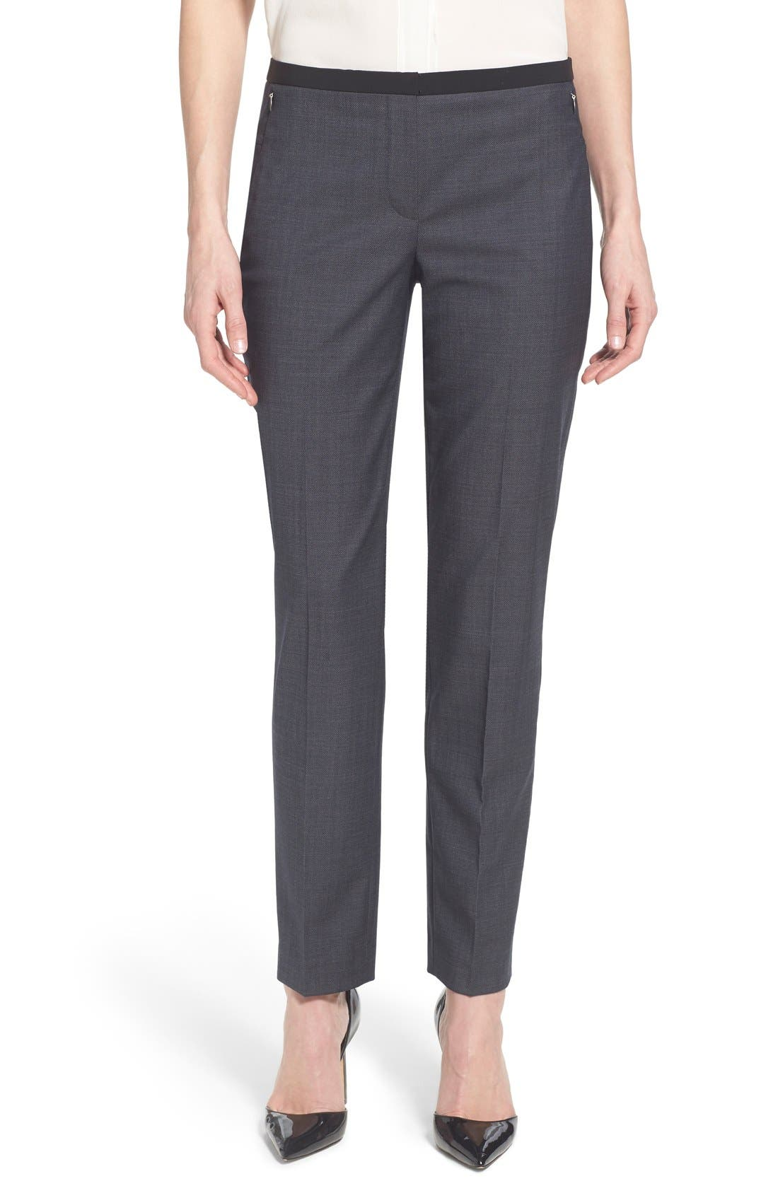 Main Image - Elie Tahari 'Jillian' Slim Fit Stretch Woven Pants