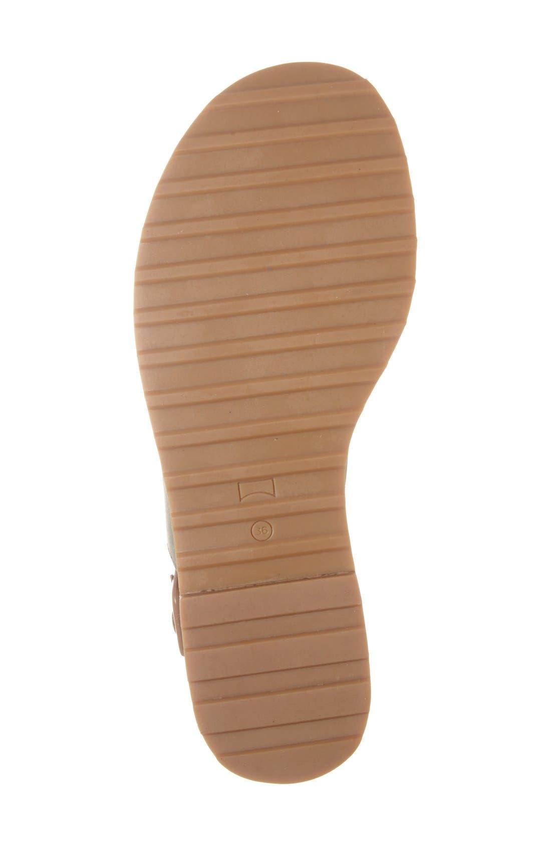 Alternate Image 4  - Camper 'Pimpom' Leather & Suede Crisscross Strap Sandal (Women)