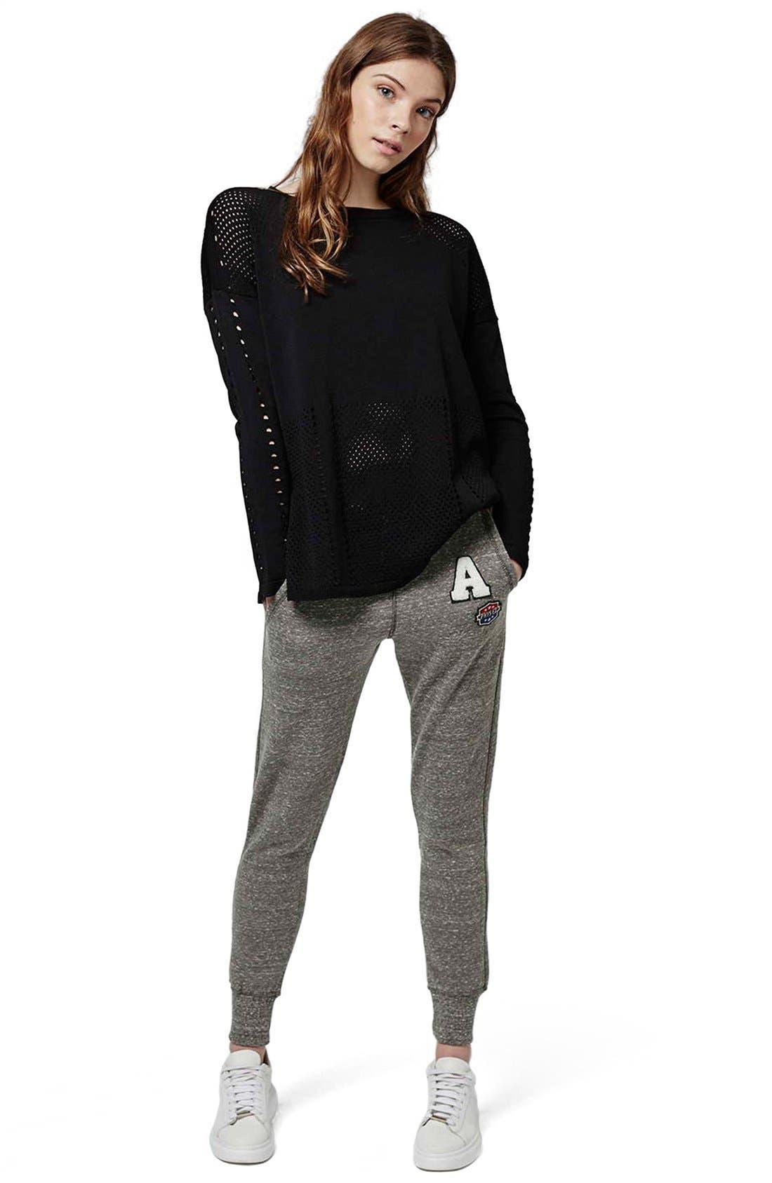 Alternate Image 3  - Topshop 'Jenner' Badge Jogger Pants
