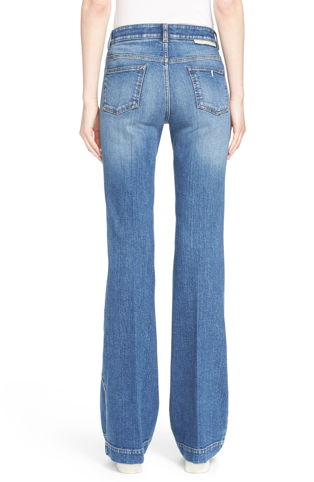 Alternate Image 2  - Stella McCartney '70s Flare' Jeans (Classic Blue)
