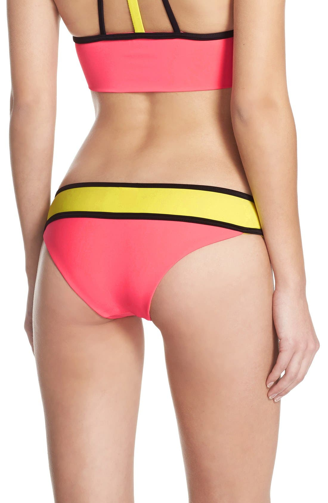 Alternate Image 2  - BCA Colorblock Bikini Bottoms