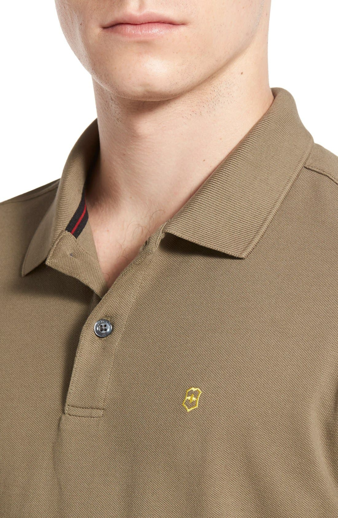 Alternate Image 5  - Victorinox Swiss Army® 'VX Stretch' Tailored Fit Piqué Polo (Online Only)