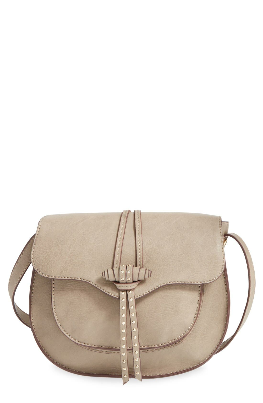 Main Image - Steven by Steve Madden 'Bbianca' Faux Leather Crossbody Saddle Bag