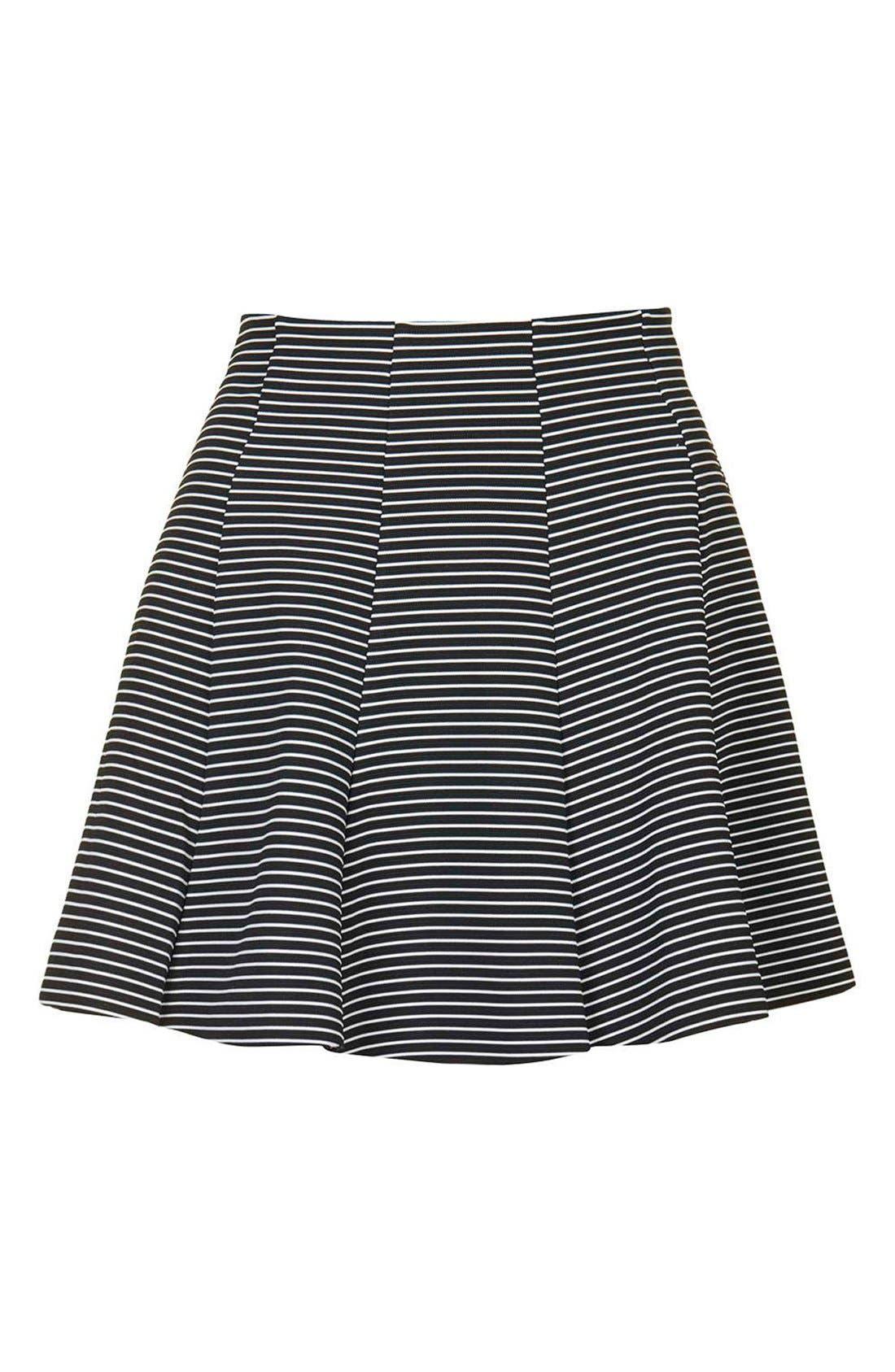 Alternate Image 4  - Topshop Stripe Flippy Skirt (Petite)
