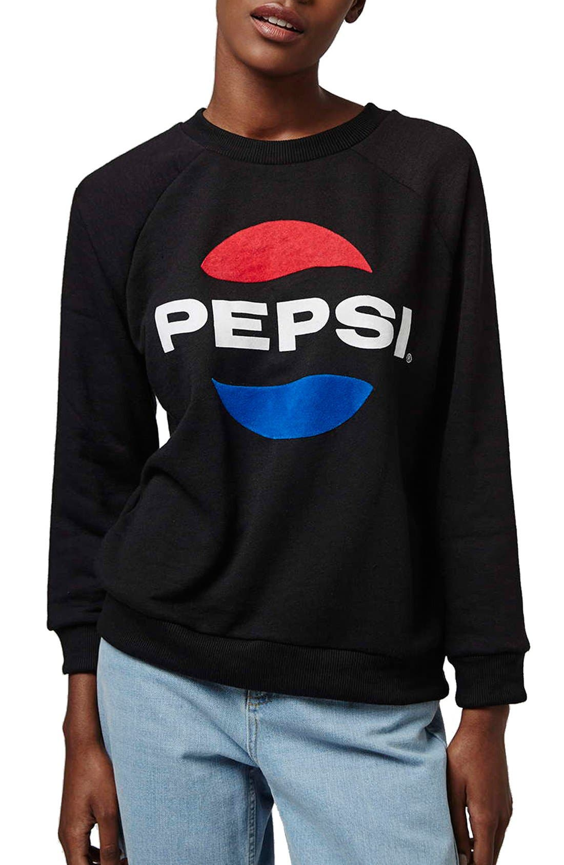 Alternate Image 1 Selected - Topshop Tee and Cake 'Pepsi' Sweatshirt (Petite)