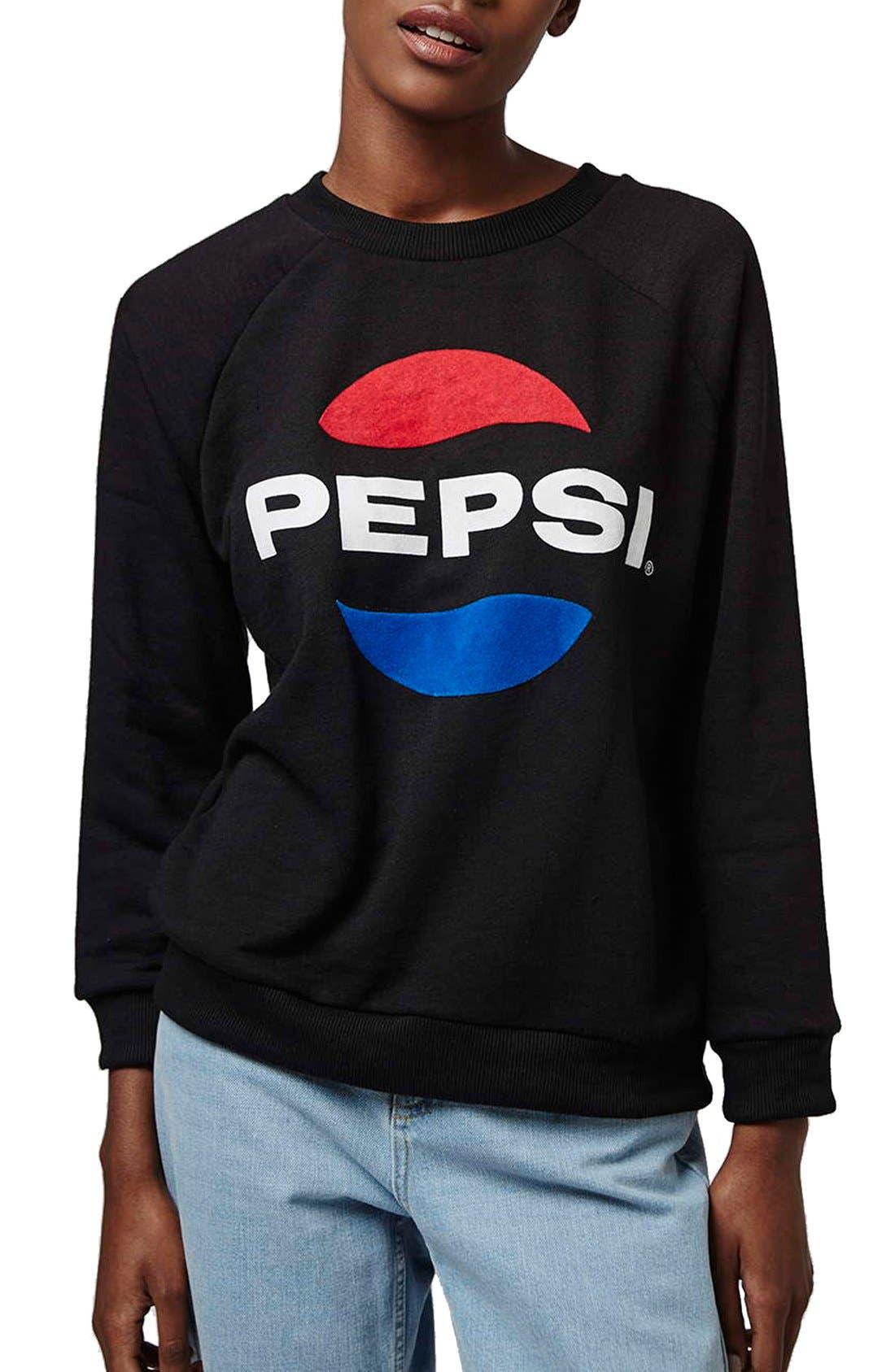 Main Image - Topshop Tee and Cake 'Pepsi' Sweatshirt (Petite)