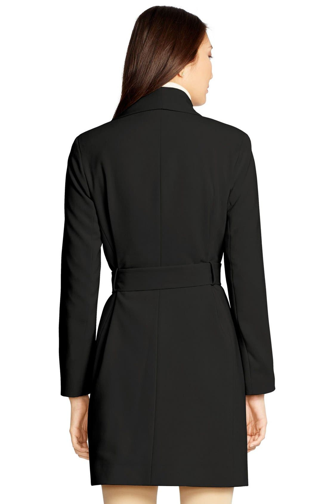 Alternate Image 2  - Lauren Ralph Lauren Belted Drape Front Coat