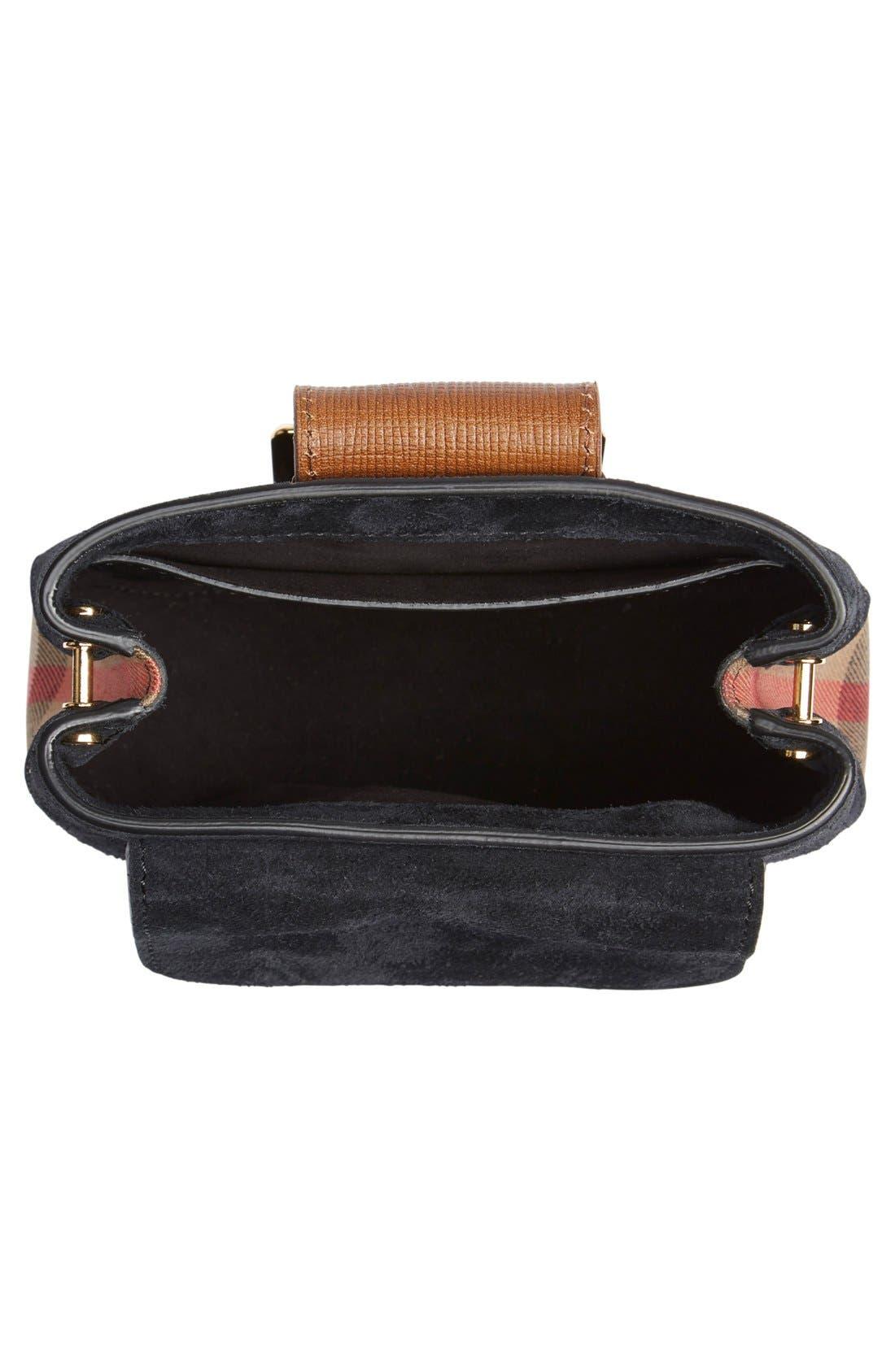 Alternate Image 4  - Burberry Suede & Canvas Convertible Crossbody Bag