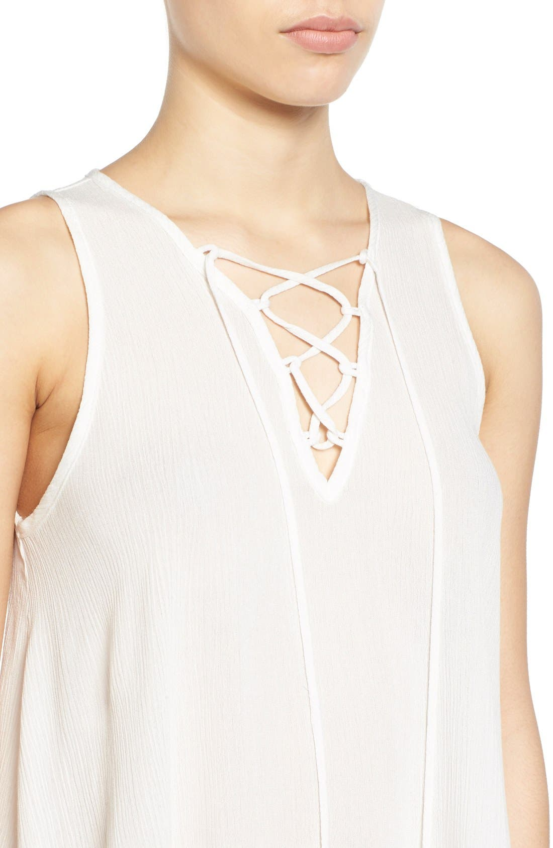 Alternate Image 4  - Painted Threads Lace-Up Tank