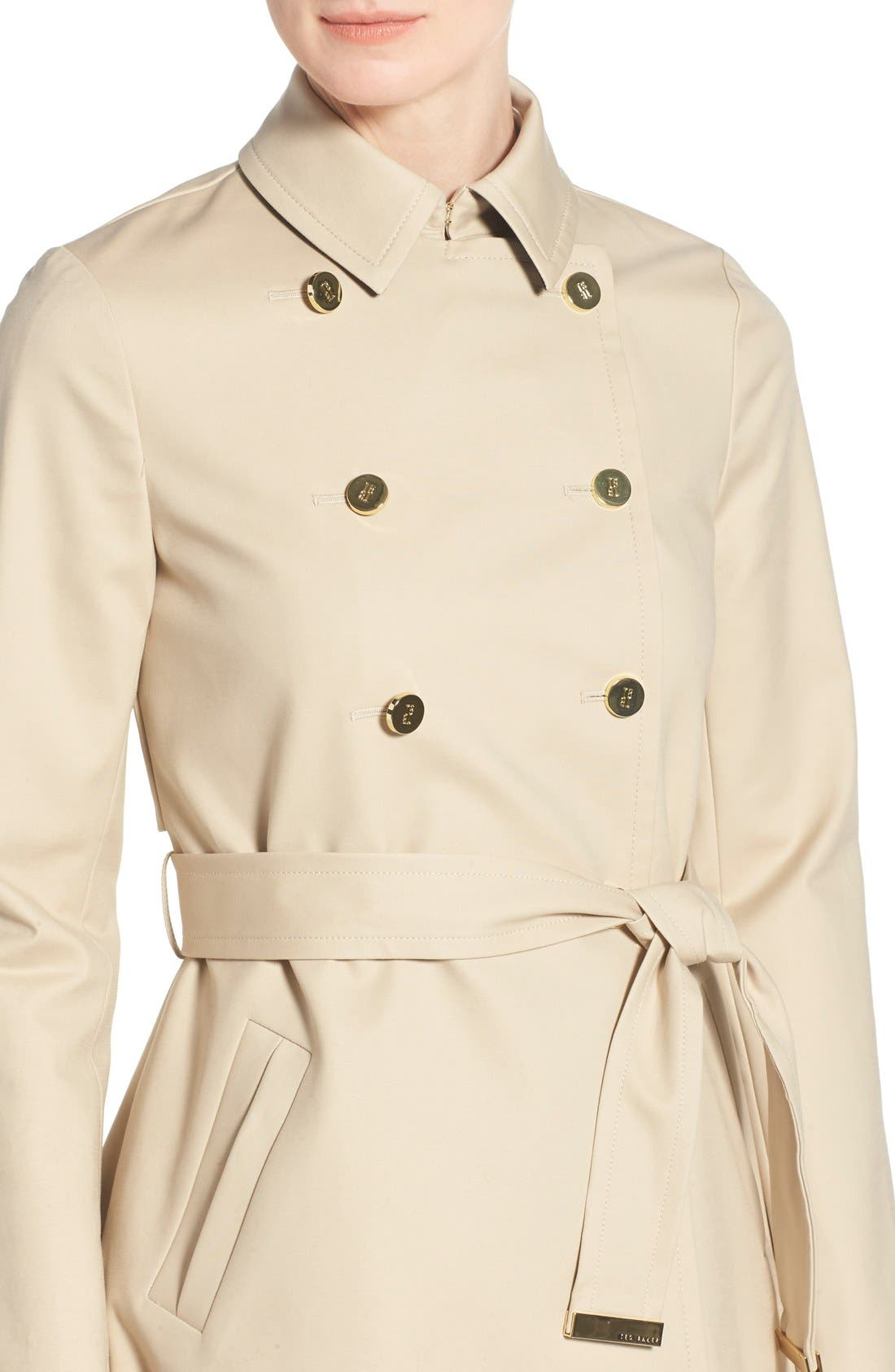 Alternate Image 4  - Ted Baker London Belted A-Line Macintosh Coat