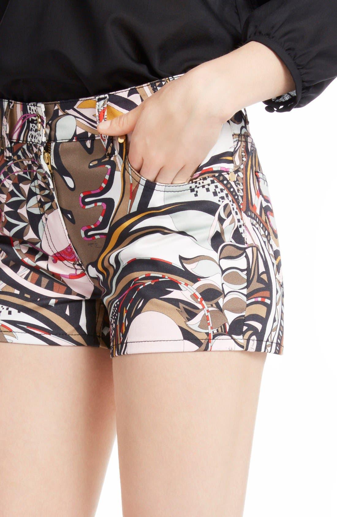 Alternate Image 5  - Emilio Pucci Print Stretch Cotton Shorts