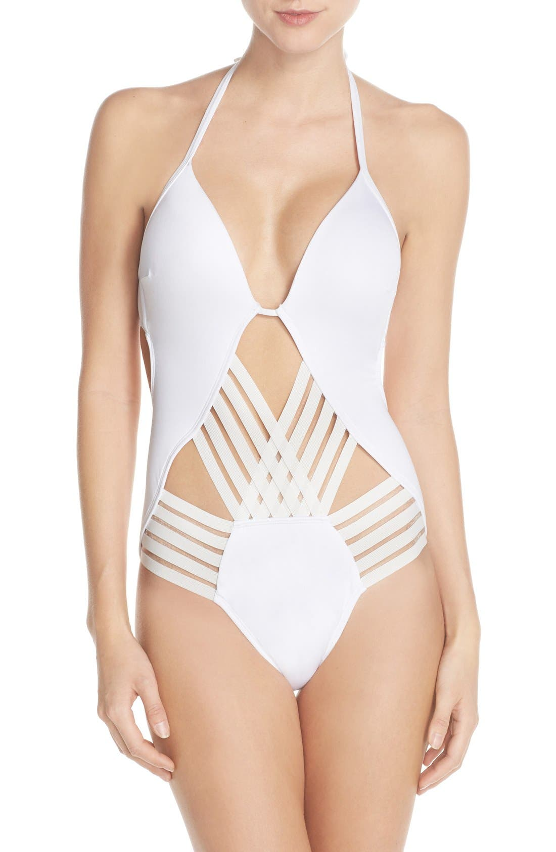 Alternate Image 1 Selected - Kenneth Cole New York 'Stompin' Push-Up One-Piece Swimsuit