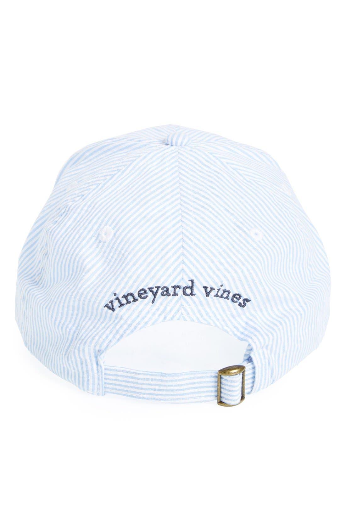 Alternate Image 2  - Vineyard Vines Seersucker Baseball Cap