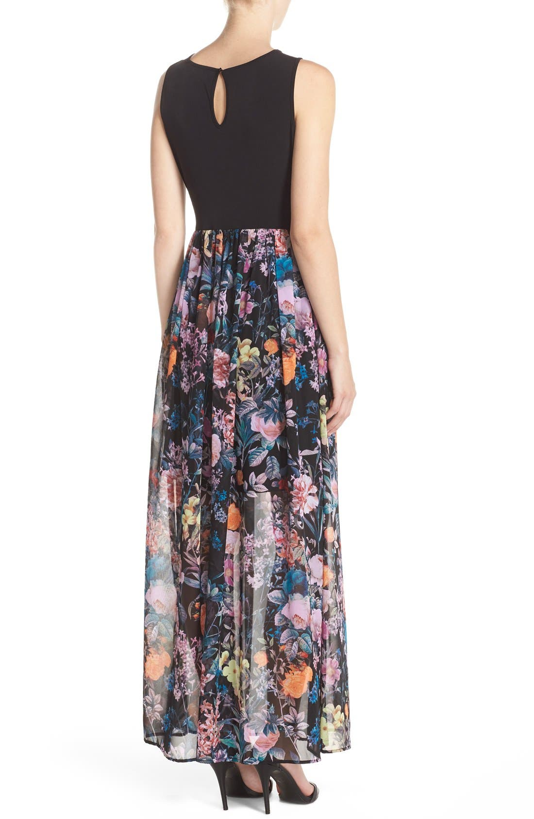 Alternate Image 3  - ECI Jersey & Chiffon Maxi Dress