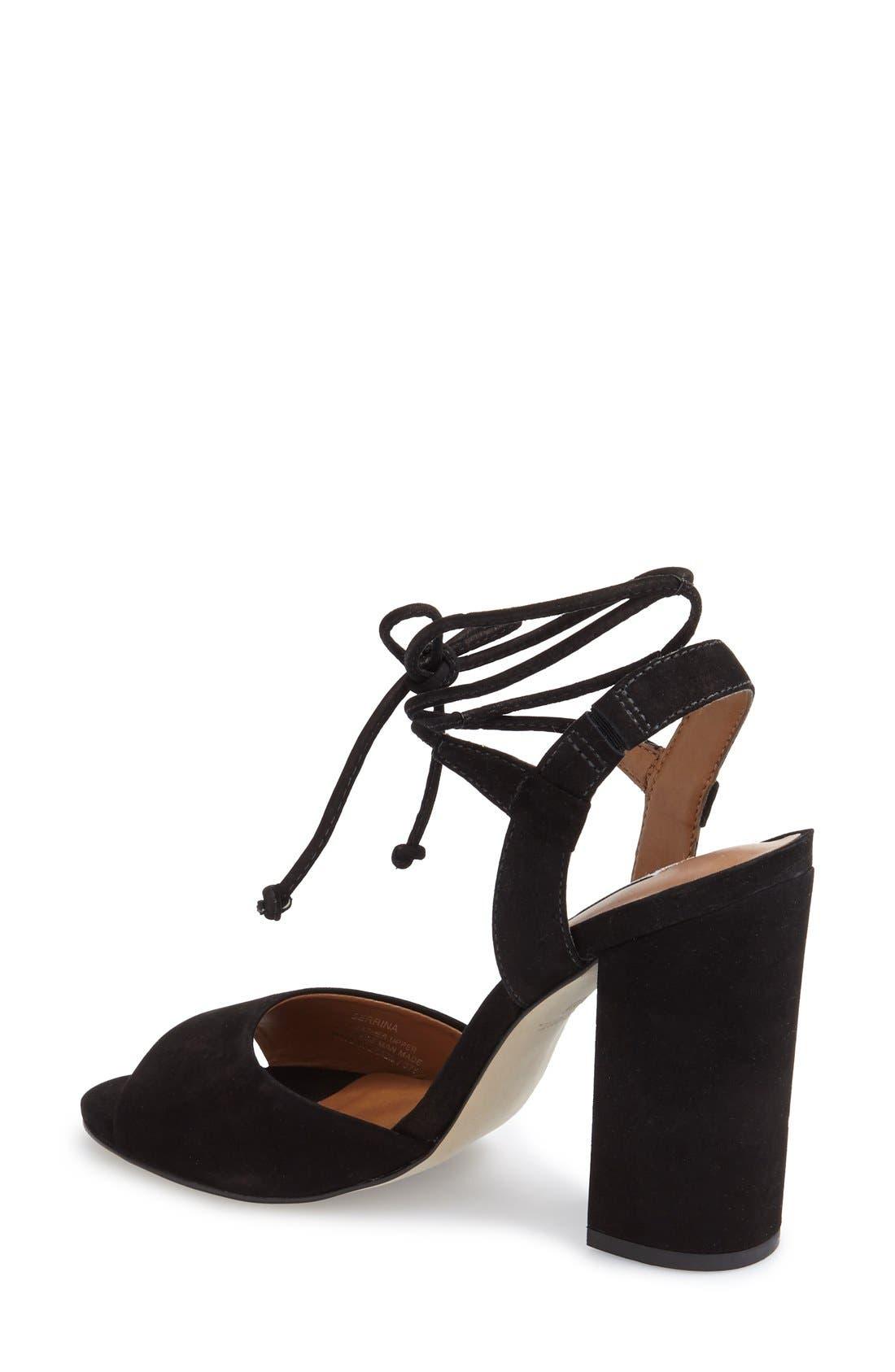 Alternate Image 2  - Steve Madden 'Serrina' Block Heel Lace Up Sandal (Women)