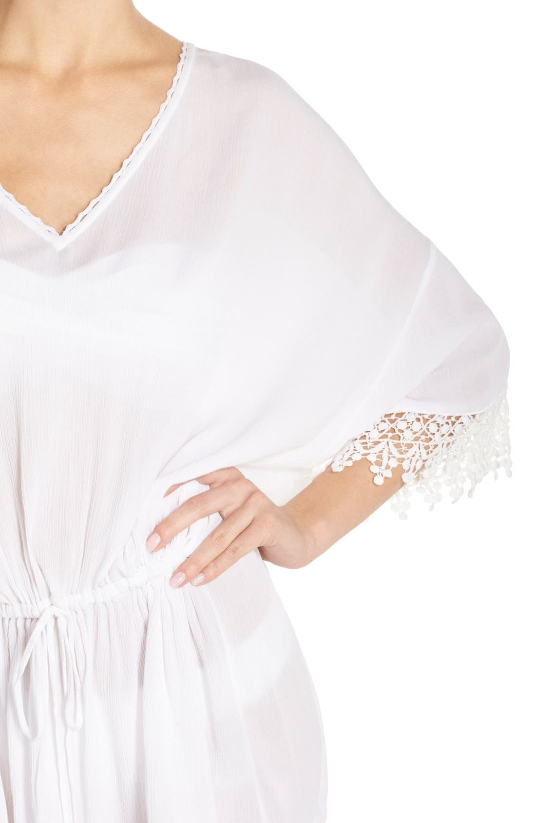 Alternate Image 4  - Tory Burch 'Treville' Crochet Trim Caftan Tunic