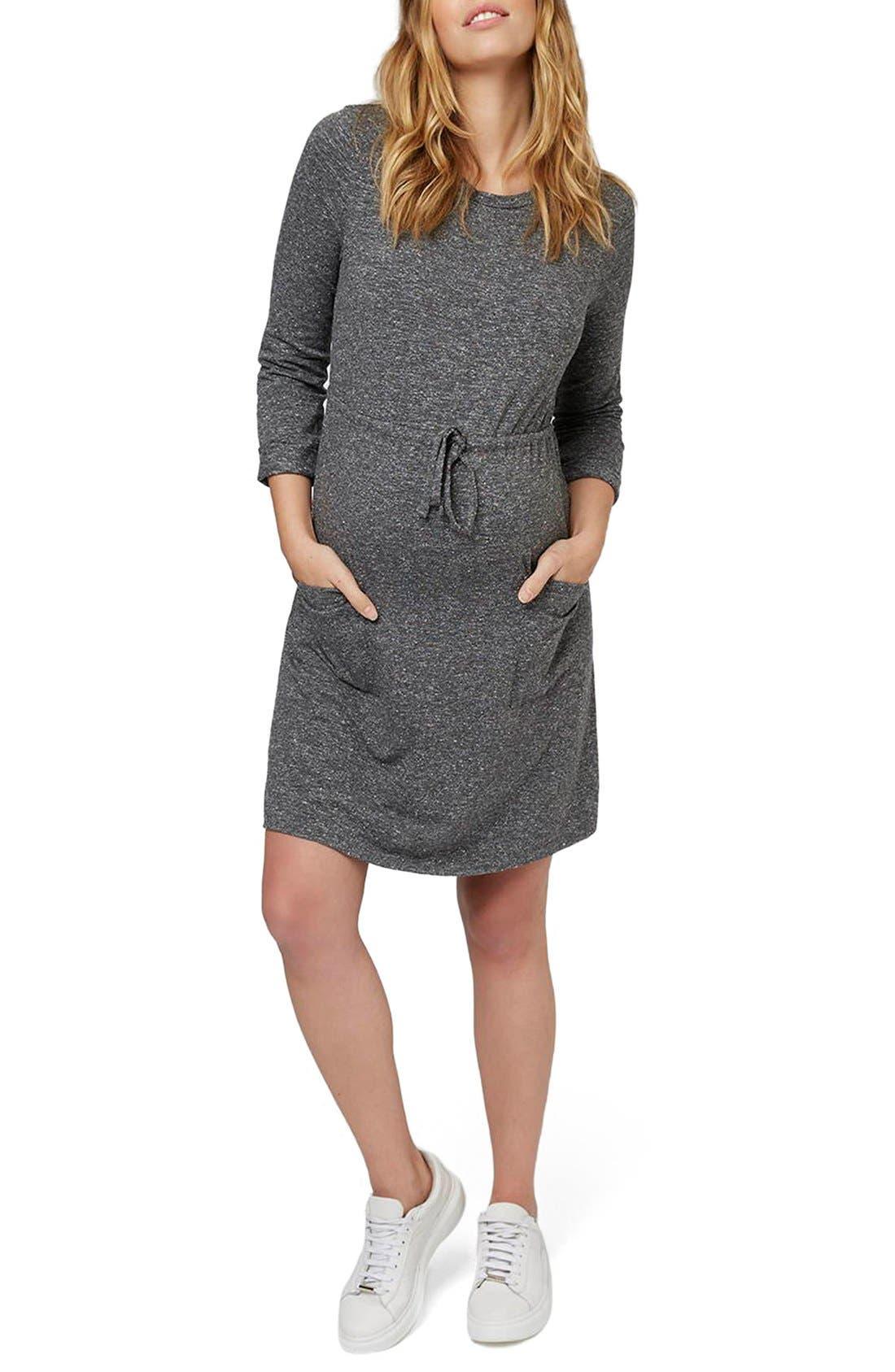 Alternate Image 1 Selected - Topshop Drawstring Maternity Dress