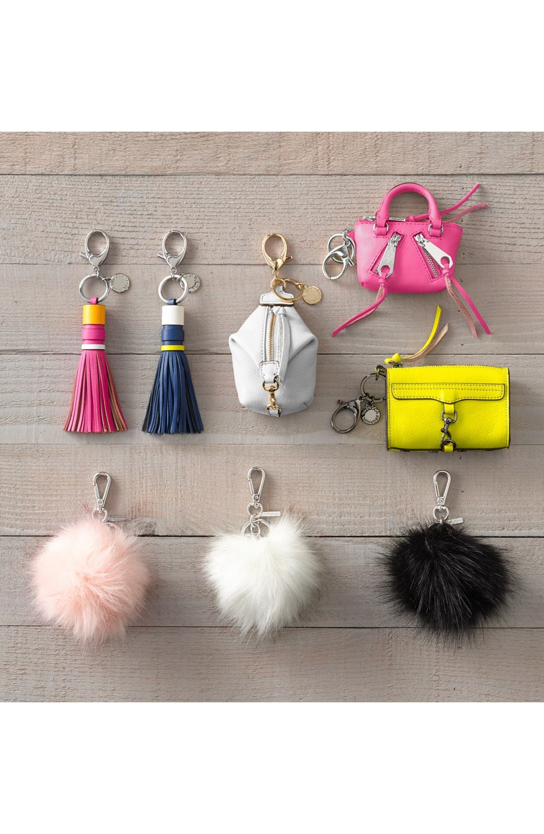Alternate Image 2  - Halogen® Faux Fur Pom Bag Charm