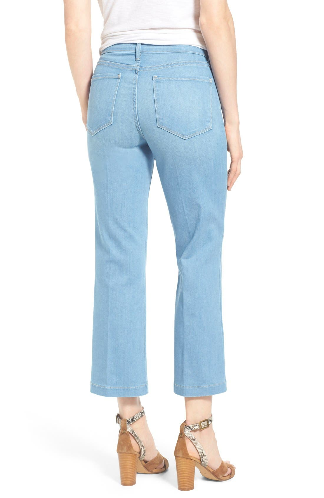 Alternate Image 2  - NYDJ 'Sophia' Stretch Ankle Flare Leg Jeans (Palm Bay)