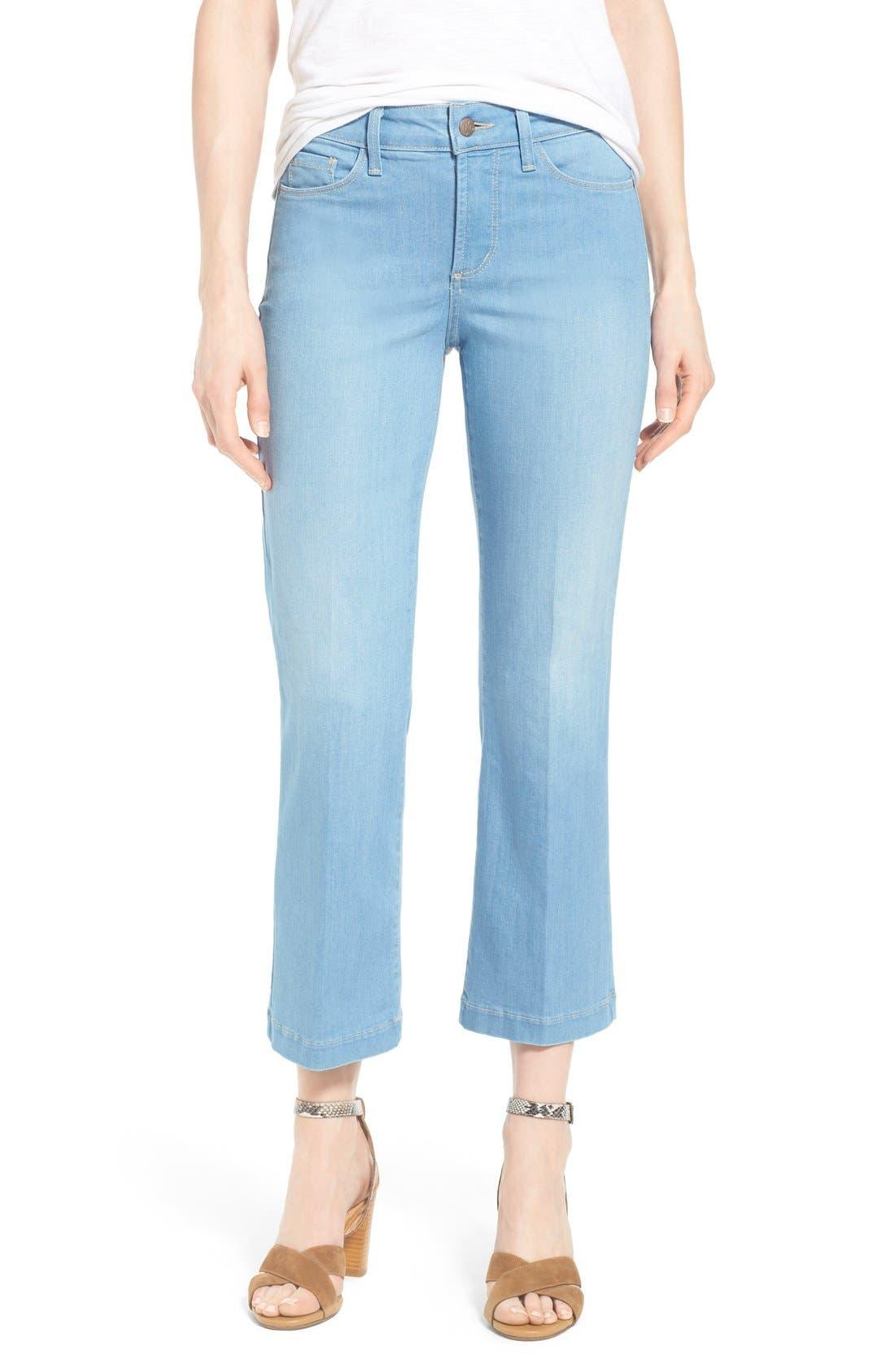 Alternate Image 1 Selected - NYDJ 'Sophia' Stretch Ankle Flare Leg Jeans (Palm Bay)