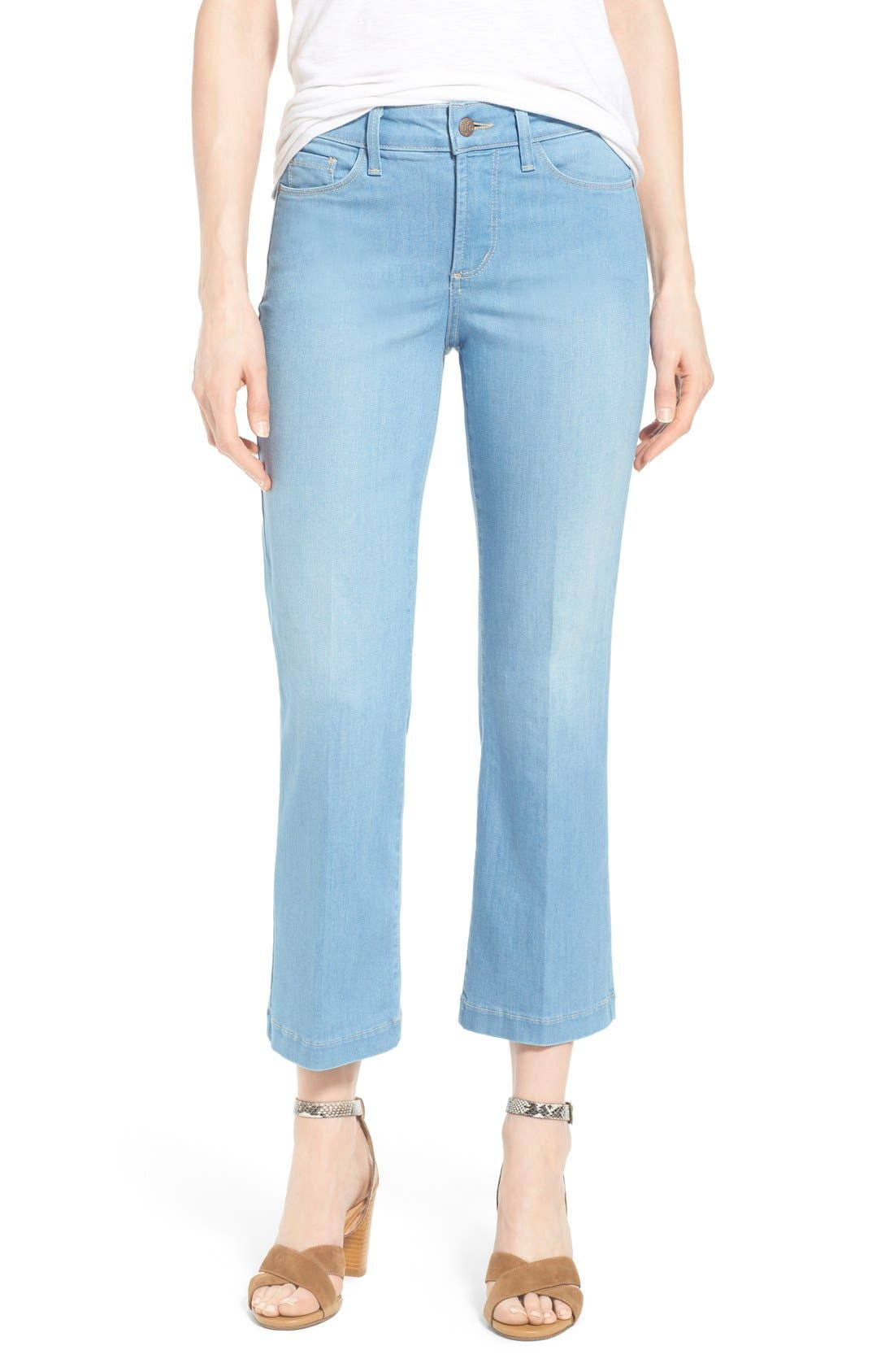 Main Image - NYDJ 'Sophia' Stretch Ankle Flare Leg Jeans (Palm Bay)