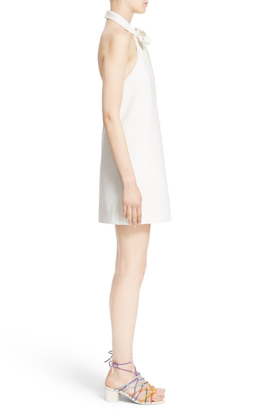 Alternate Image 6  - Chloé Textured Crêpe Tie Neck Halter Dress