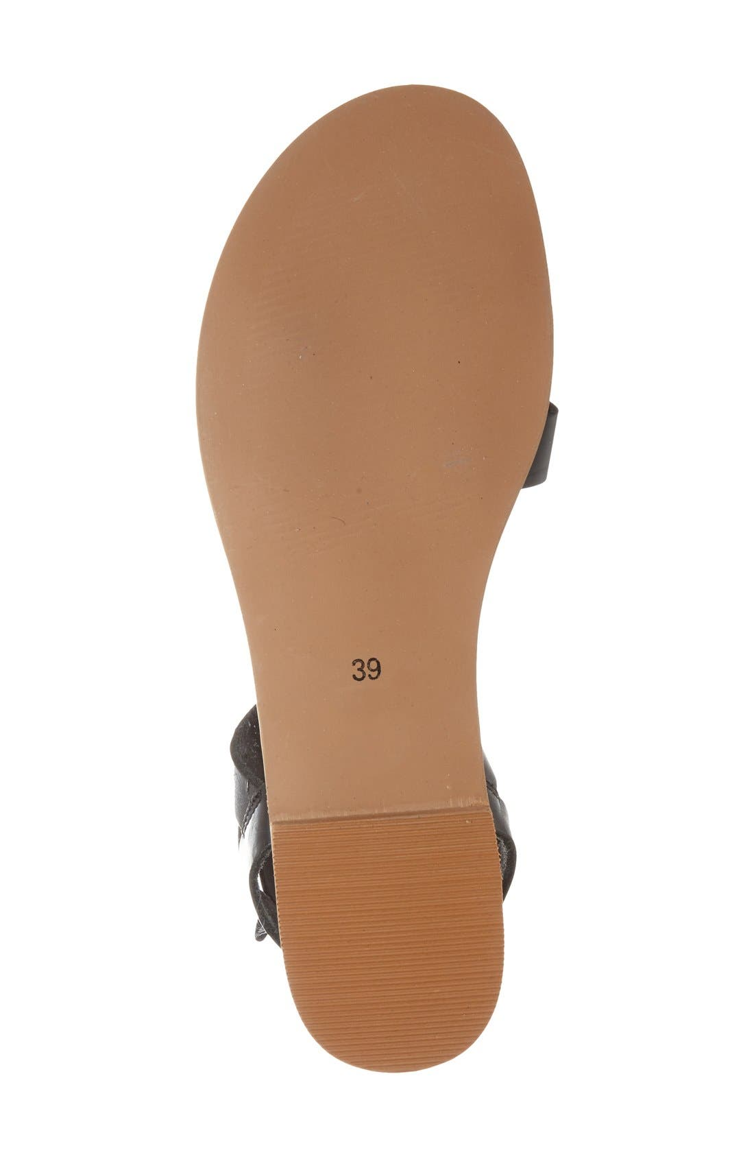 Alternate Image 4  - Topshop 'Herb' Lace-Up Flat Sandal (Women)