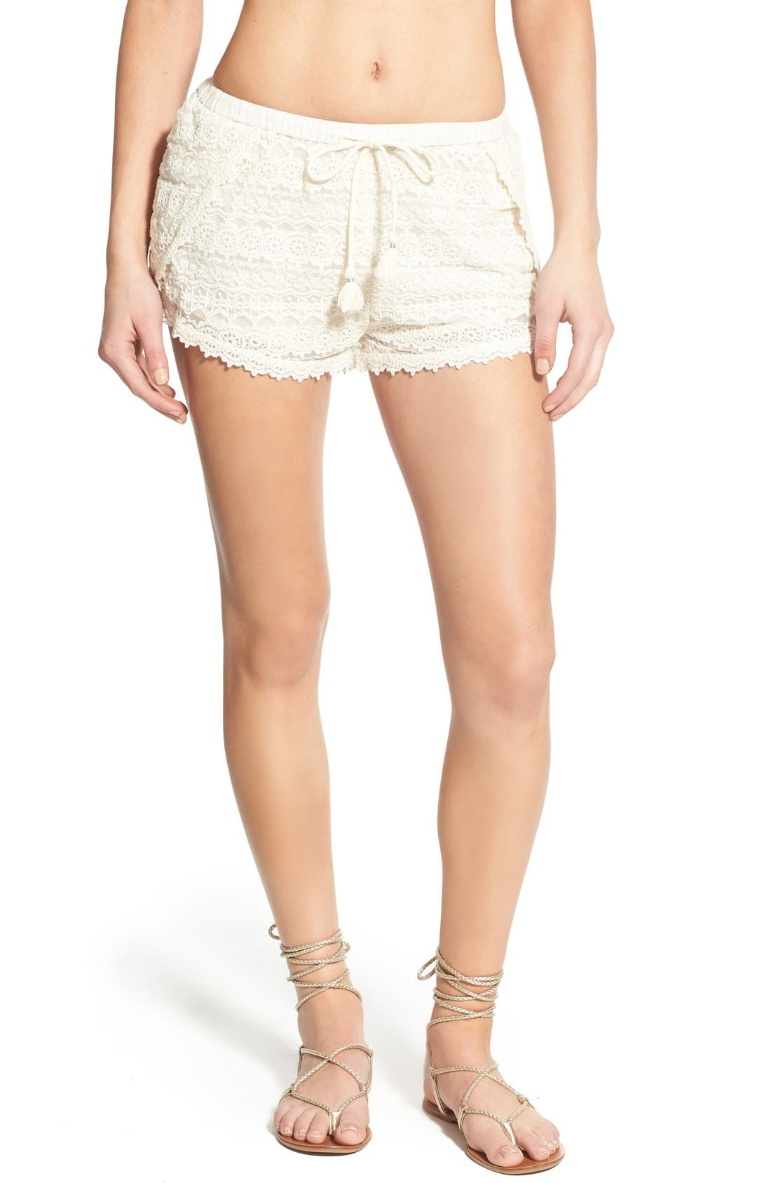 Alternate Image 1 Selected - Amuse Society 'Chelles' Lace Shorts