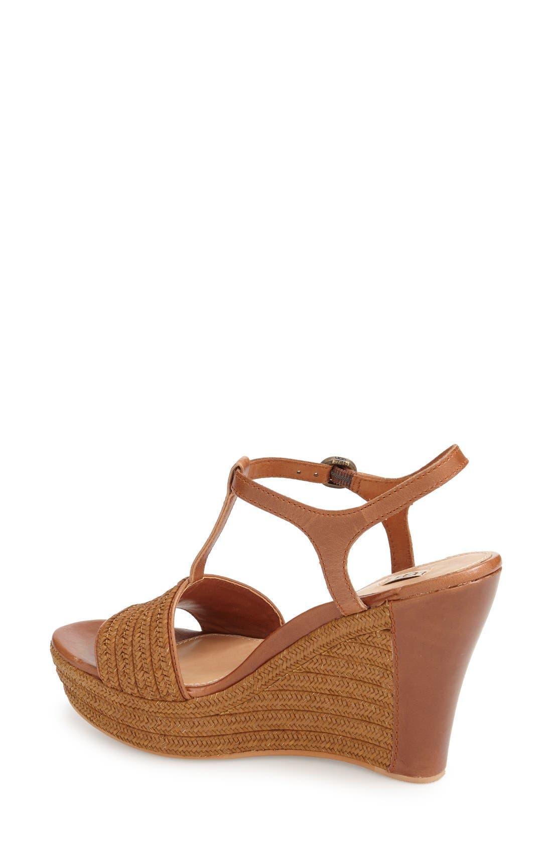 Alternate Image 2  - UGG® 'Fitchie' T-Strap Wedge Sandal (Women)