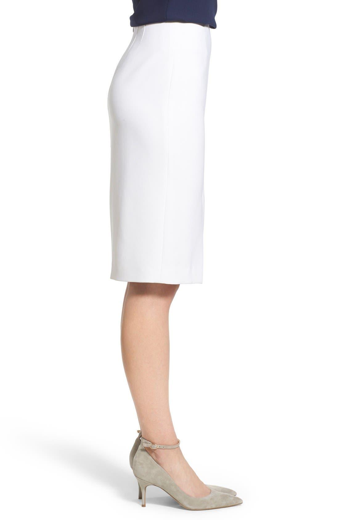 Alternate Image 3  - Ellen Tracy Asymmetrical Front Slit Pencil Skirt