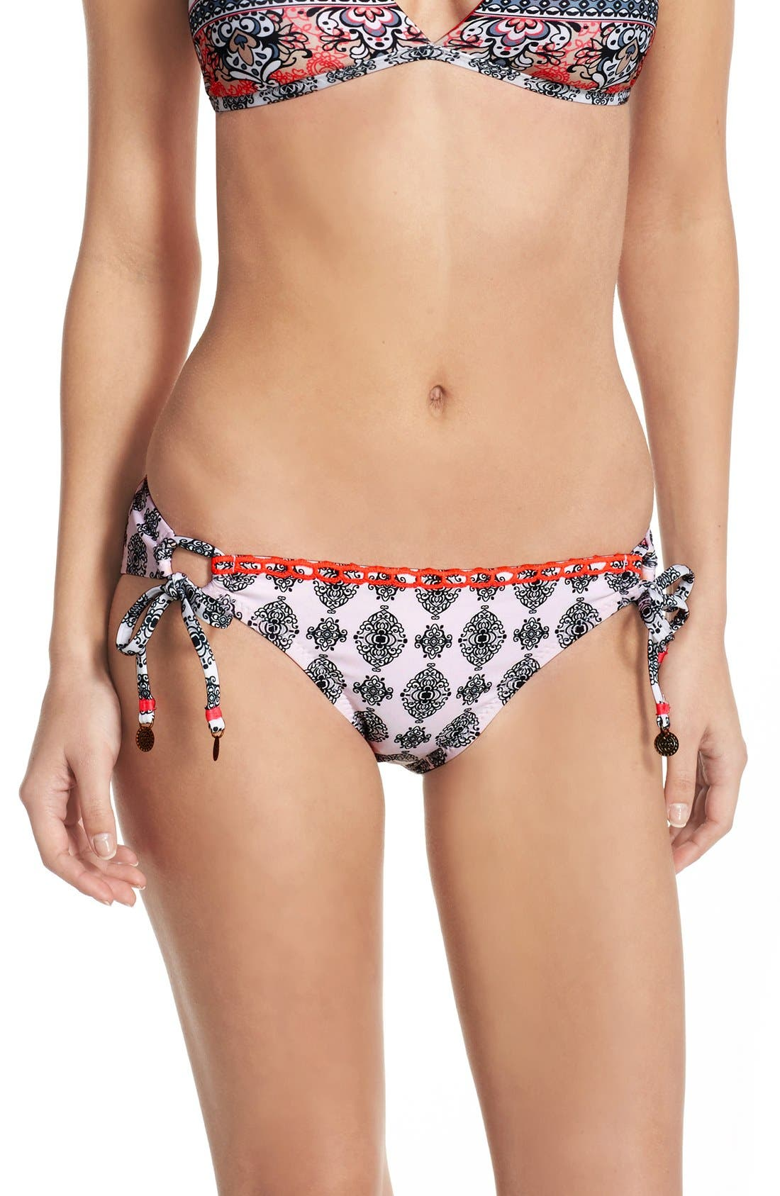 Alternate Image 1 Selected - Becca Side Tie Bikini Bottoms