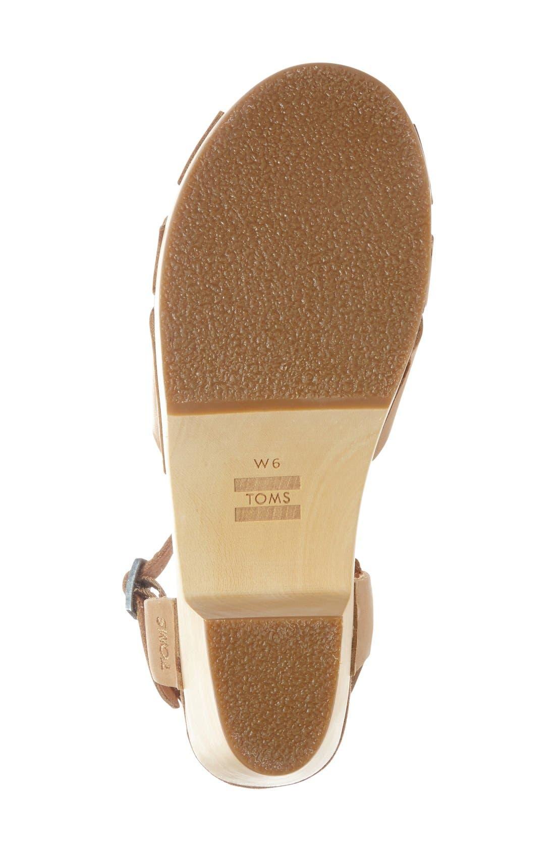 Alternate Image 4  - TOMS 'Beatrix' Leather Sandal (Women)