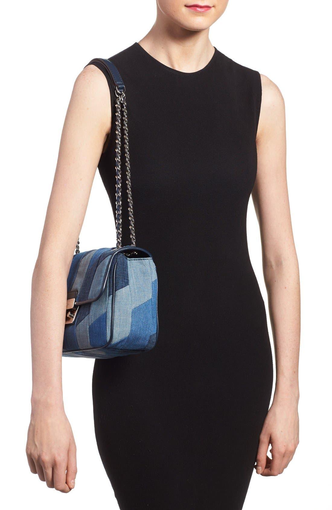 Alternate Image 2  - MICHAEL Michael Kors 'Large Sloan' Patchwork Denim Shoulder Bag
