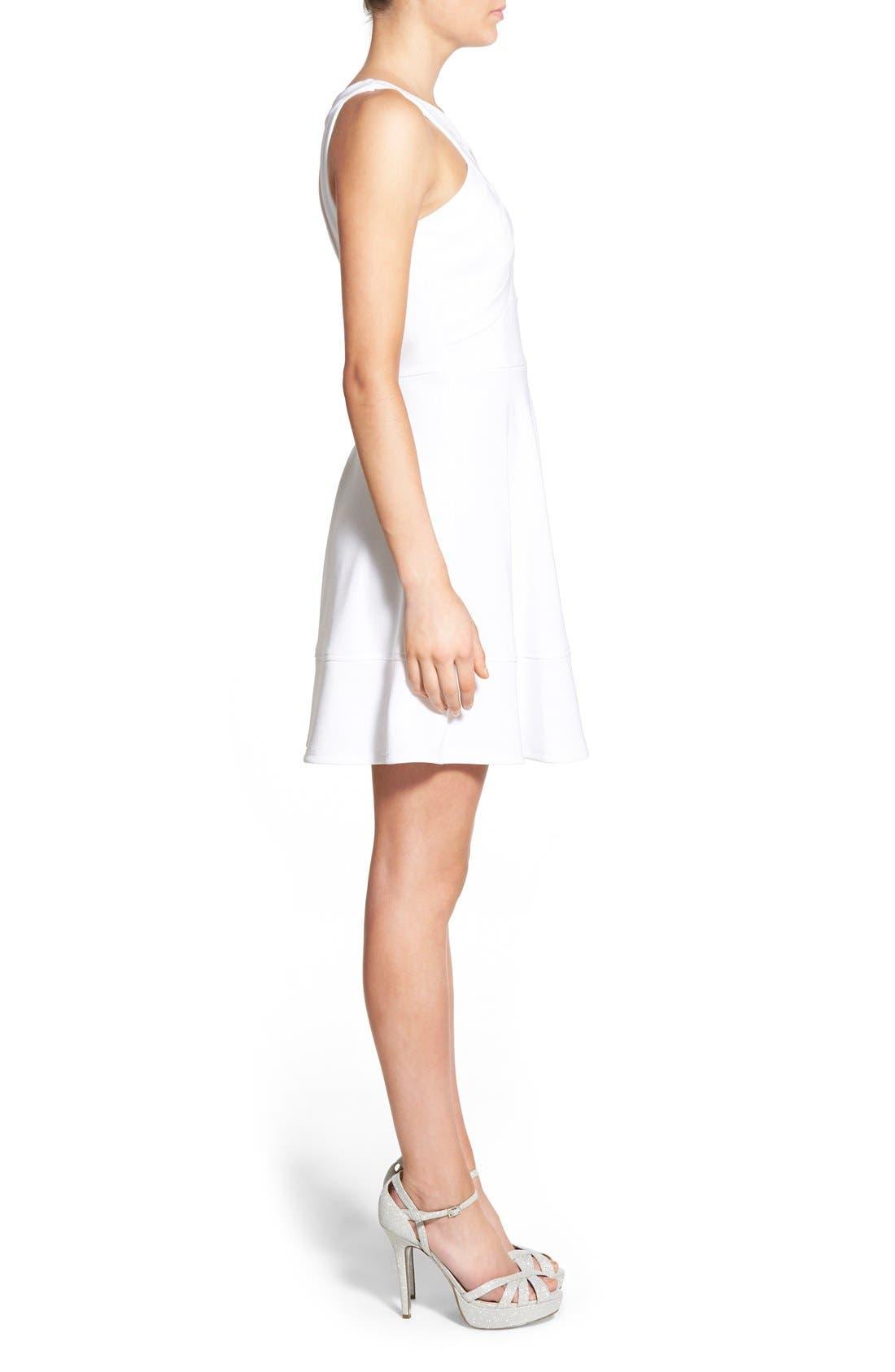 Alternate Image 3  - Love, Nickie Lew Cross Front Skater Dress