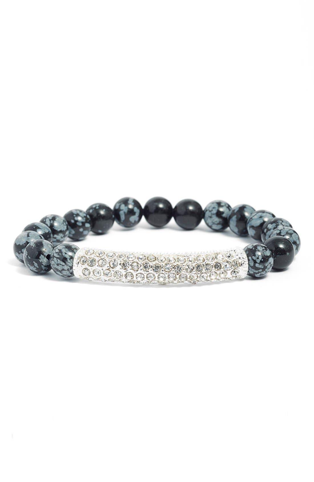 Alternate Image 1 Selected - Elise M. 'Calypso' Pavé Crystal Beaded Bracelet